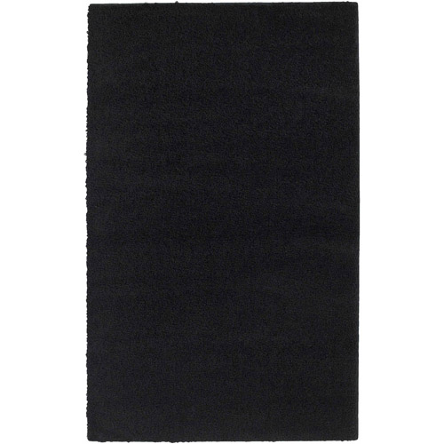 Garland Rug Southpointe Shag Black 5 Ft. x 7 Ft.  Area Rug