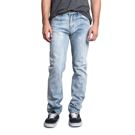 Victorious Men's Skinny Fit Stretch Raw Denim Jeans DL1004 - BLUE SKY - 36/30