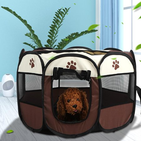 - Anauto Pet Cat Dog Portable Foldable Cage Exercise & Play Tent Mesh Cover Indoor/Outdoor Use, Dog Tent,Pet Tent