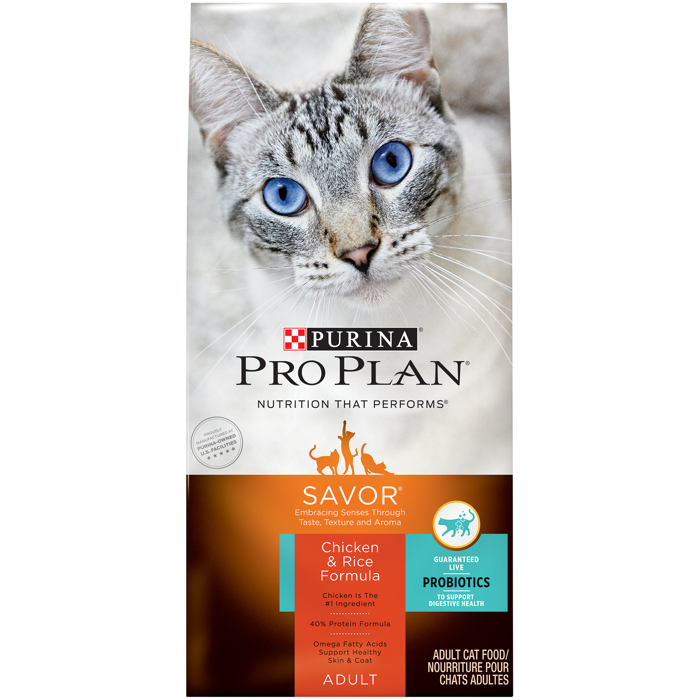 Purina Pro Plan Savor with Chicken & Rice Dry Cat Food (Various Sizes)