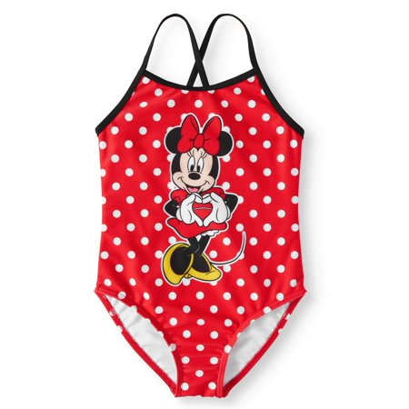 Minnie Mouse One-Piece Swimsuit (Little Girls)](Disney Swimwear Girls)