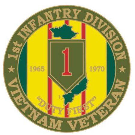 "1st Infantry 1 1/8"" Vietnam Veteran Lapel Pin"