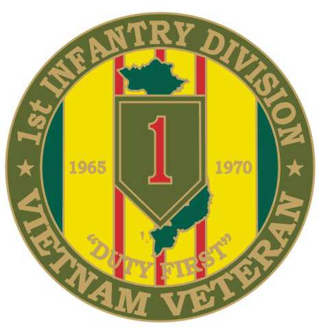 "1st Infantry 1 1/8"" Vietnam Veteran Lapel Pin"