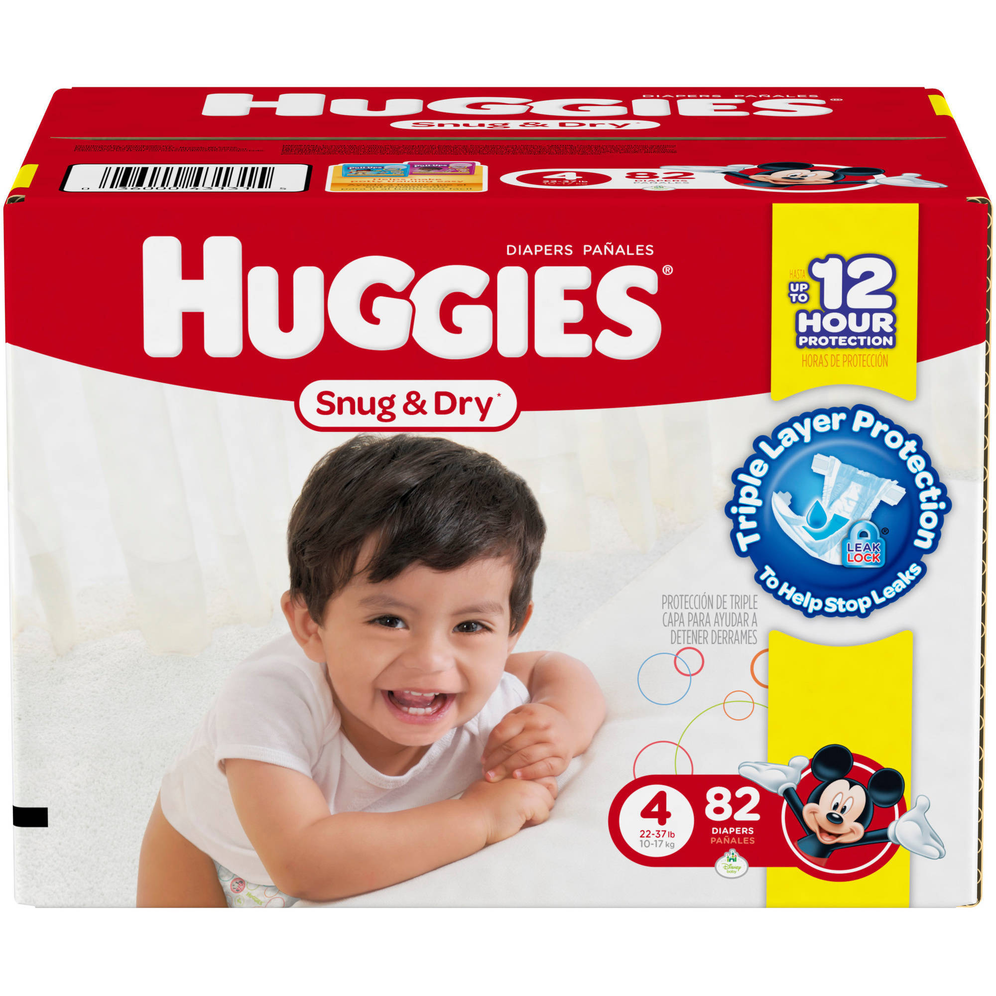 HUGGIES Snug & Dry Diapers, Size 4 (Choose Diaper Count)