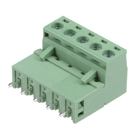 10Pairs 5.08mm 5Pin Pluggable Terminal Block Connector Male and Female