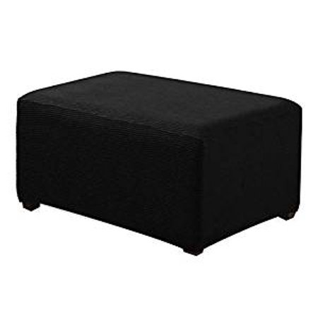 Enjoyable Orlys Dream Spandex Pique Stretch Fit Rectangle Storage Ottoman Furniture Cover Slipcover Black Uwap Interior Chair Design Uwaporg