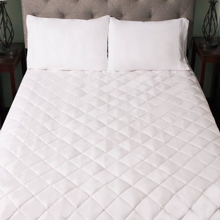 Quilted Mattress Covers - Snuggle Home Quilted Fitted Memory Foam Bedroom Mattress Pad, 4 Sizes