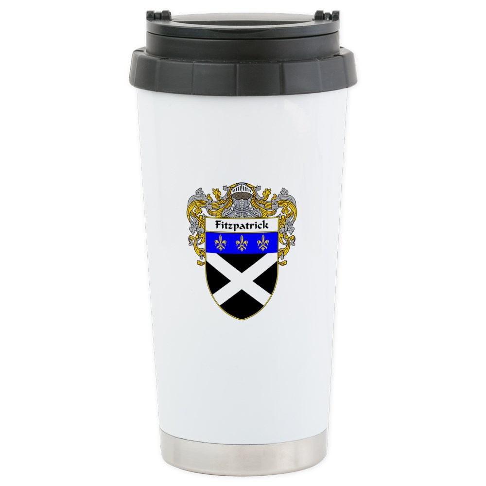 CafePress Fitzpatrick Coat Of Arms (Mantled) Stainless Steel Stainless Steel Travel Mug, Insulated 16 oz. Coffee Tumbler by