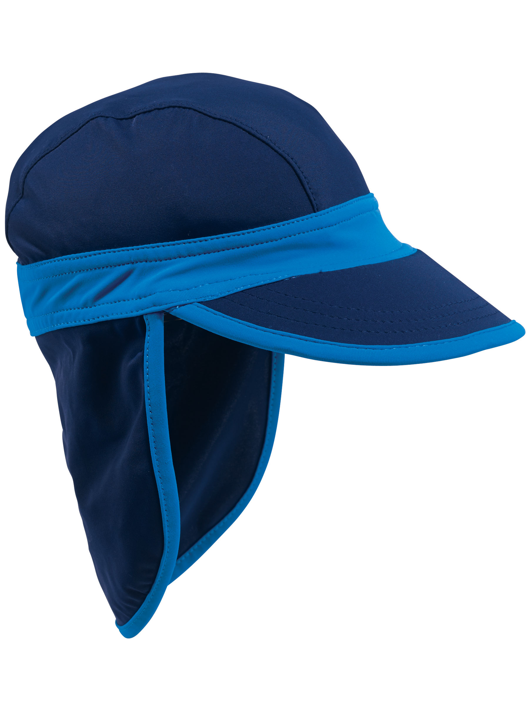 dbd65019f16 Sun Smarties - Sun Smarties Navy Blue Baby Sun Hat - With Flap Shield for  Neck and Ears - Small