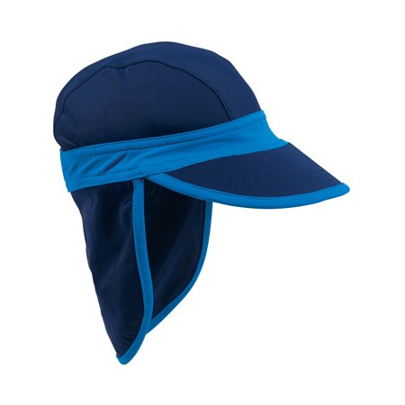 - Sun Smarties Navy Blue Baby Sun Hat - With Flap Shield for Neck and Ears - Small, 12-24 Months