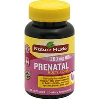 Nature Made Prenatal Multi + DHA Softgels, 200 Mg, 60 Ct