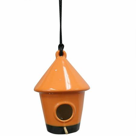 """Image of 10"""" Hanging Birdhouse, Orange"""