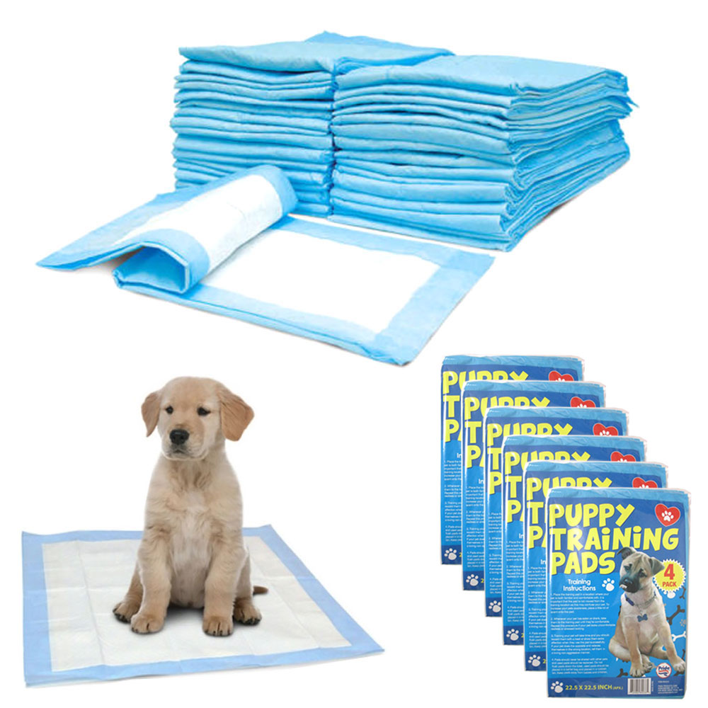24 Dog Puppy Training Pads House Heavy Absorbent Pet Pee Piddle Underpad 22 x 22