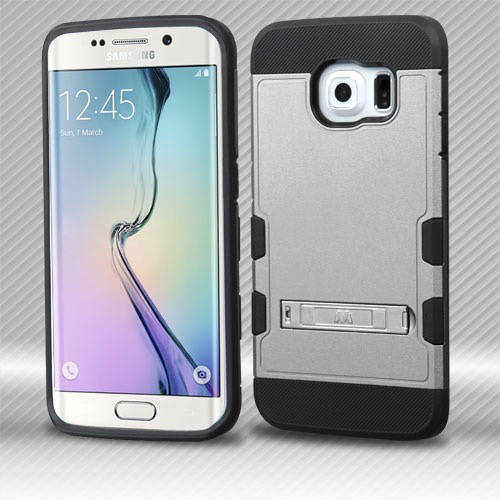 Samsung G925 Galaxy S6 Edge MyBat TUFF Trooper Hybrid Protector Cover with Stand