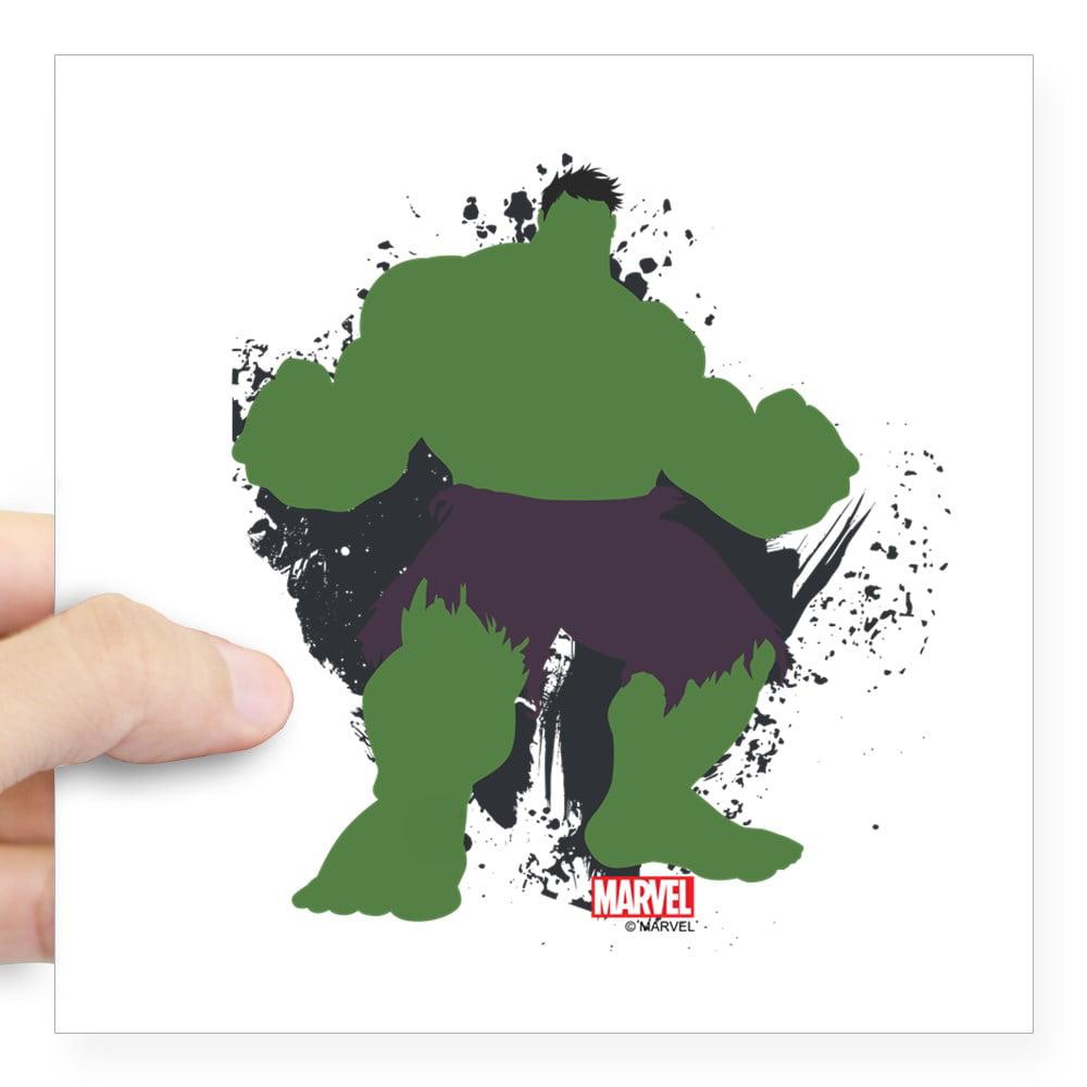 "CafePress - Minimalist Hulk Square Sticker 3"" X 3 - Square Sticker 3"" x 3"""