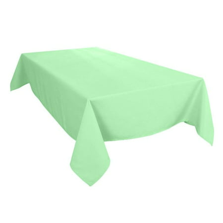 The Great American Store Premium Collection Rectangle Tablecloth 100% Authentic Cotton Table Cover (70 x 108) Solid Sea Glass - Best for Parties, Wedding, Buffet Table & More, Stain & Fade