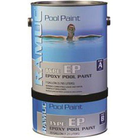 ramuc epoxy pool paint kit white 1 gallon