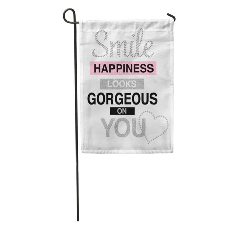 POGLIP Silver Glam Shiny Slogan Graphic Pattern Cool Heart Awesome Blocks Garden Flag Decorative Flag House Banner 28x40 inch - image 2 de 2