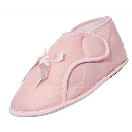 8a436b1bcfe5 Nobles Health Care Product Solutions - Edema Velcro® Brand Ladies Solid  Booties Pink (M 7-8) - Walmart.com