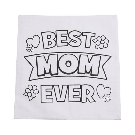 Fun Express - Cyo Mother's Day Pillow Case for Mother's Day - Craft Kits - DYO - Fabric - Misc DYO - Fabric - Mother's Day - 1 - Crafts For Mothers Day