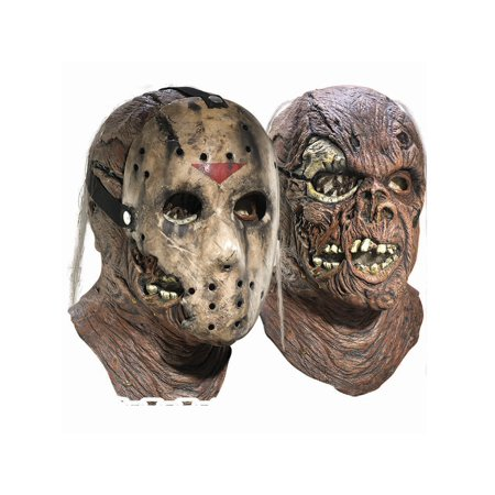 King Deluxe Mask (Deluxe Adult Jason Overhead Latex Mask with Removable Hockey Mask )