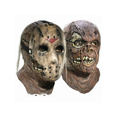 Deluxe Adult Jason Overhead Latex Mask with Removable Hockey Mask - Hockey Mask Scary