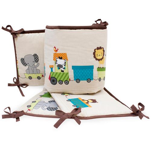 Lambs & Ivy Bedtime Originals Animal Choo Choo Express Crib Bumper
