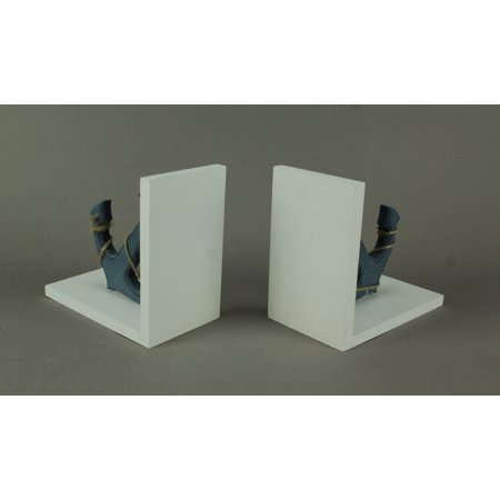 Blue and White Nautical Anchor Bookends - image 1 of 4