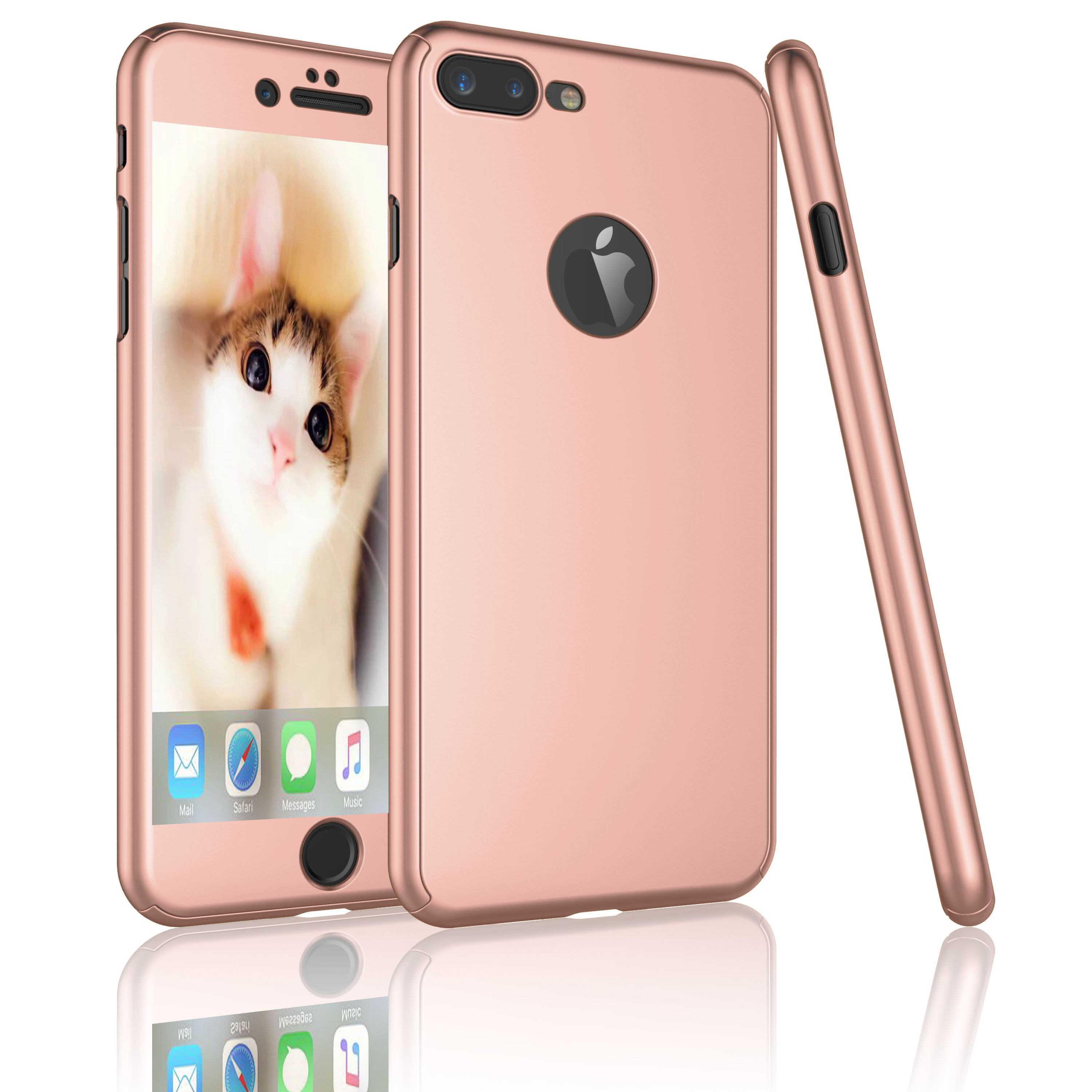 iPhone 7 Plus Case, Tekcoo [T360 HY] Ultra Thin Full Body Coverage Protection Scratch Proof Hard Slim Hybrid Cover Shell With Tempered Glass Screen ...