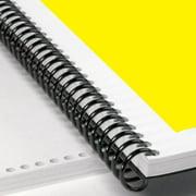 "10mm Plastic Spiral Coil Binding Supplies 12"" 100/PK Black 3/8"" 68 Sheets cap"