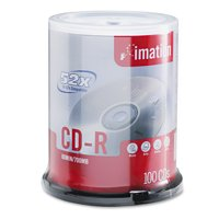 imation CD-R Discs, 700MB/80min, 52x, Spindle, Branded, Silver, 100/Pk