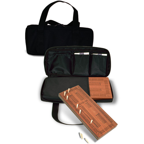 Sterling Games Triple Track Cribbage with Carrying Case