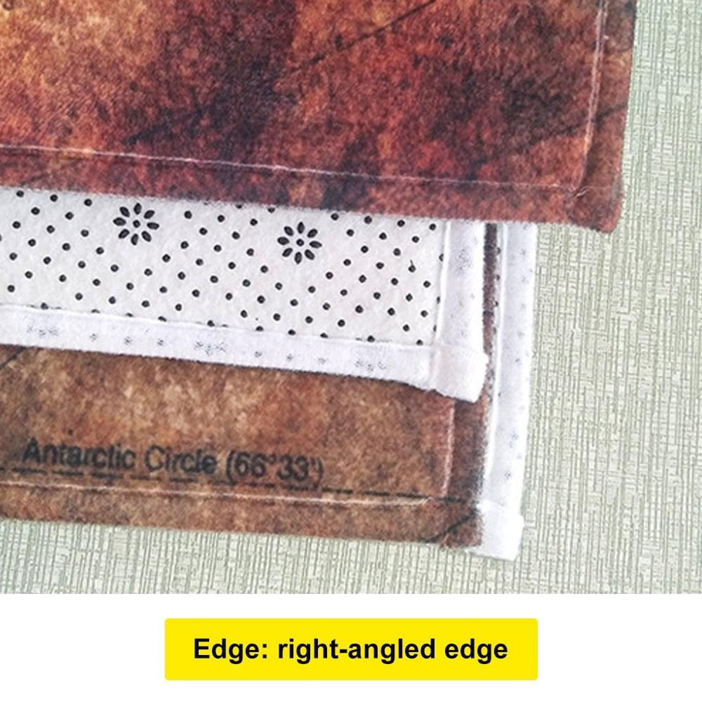 Wood Grain Printed Kitchen Non-slip Door Mat Doormats Bathroom Carpet Home Decor