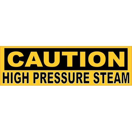 10in x 3in Caution High Pressure Steam Magnet Magnetic Business Sign ()