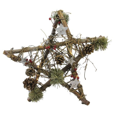 - Northlight Wooden Star Rustic Christmas Ornament