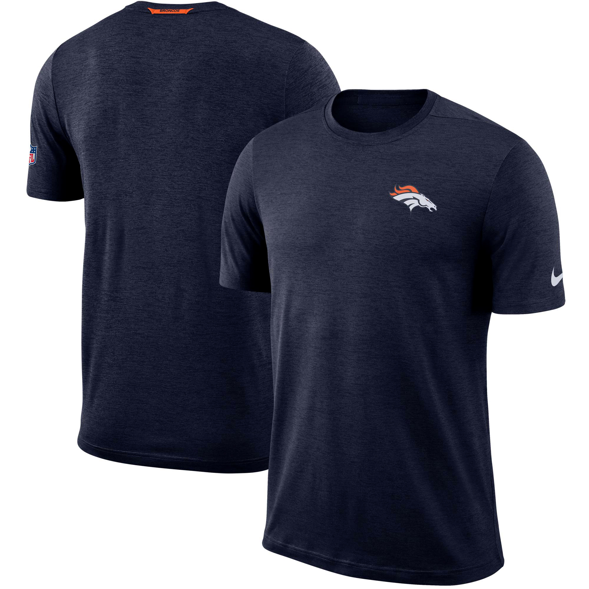 Denver Broncos Nike Sideline Coaches Logo Performance T-Shirt - Navy