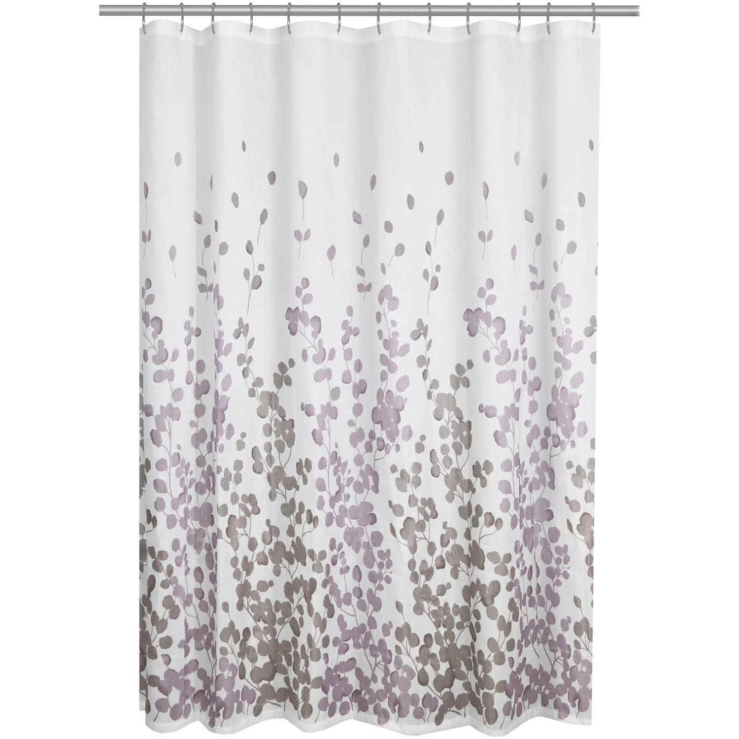 Purple Gray And White Shower Curtain Curtain Menzilperde Net