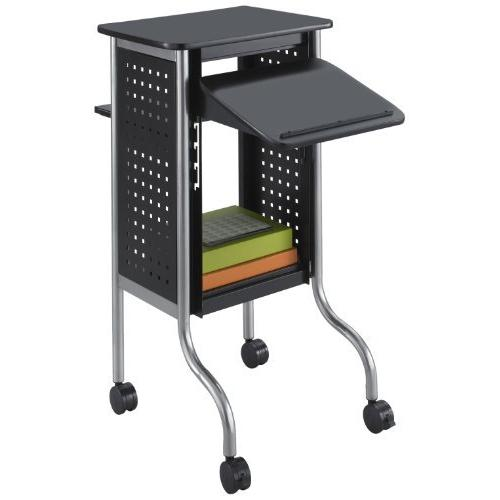 Safco Scoot Presentation Cart - 4 Caster - Black (8945BL)