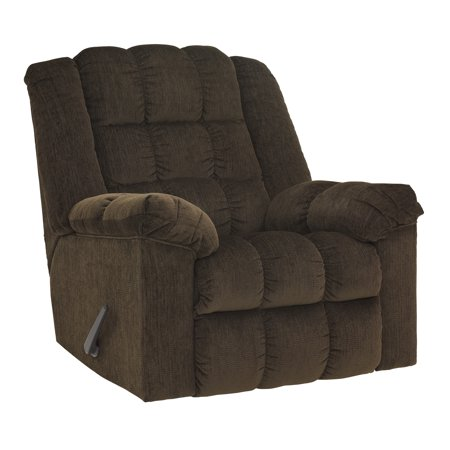 Flash Furniture Signature Design by Ashley Ludden Rocker Recliner in Cocoa Twill ()
