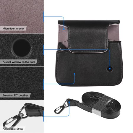 Andoer Protective Case PU Leather Bag with Adjustable Strap for Fujifilm  Instax Square SQ6 Instant Film Camera Black