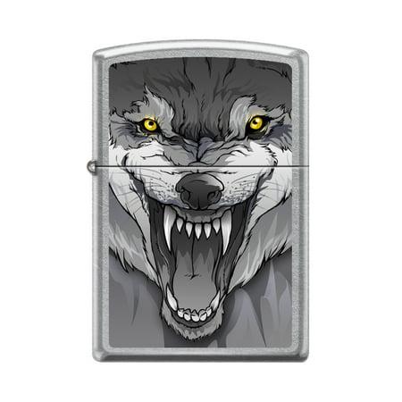 ZIPPO YELLOW EYE WOLF STREET CHROME - Zippo Wolf