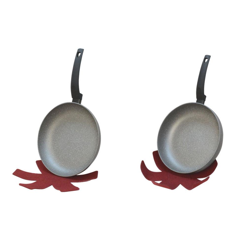 10'' DEEP 10'' Regular Lava Stone Fry Frying Pan Felt pad Non Stick Scratch Resistant Skillet Eco Friendly by