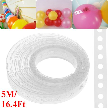 Asewin 17 ft / 5m Balloon Decorating String DIY Arch Strip Tape Rolls Garlands Party Decor (Roll Party Tape)