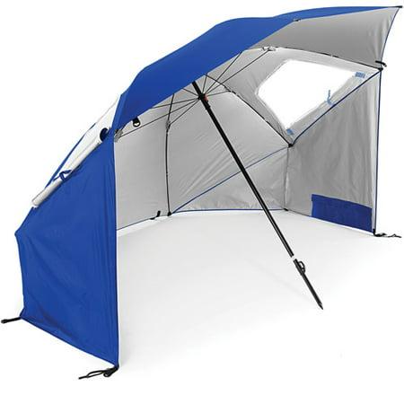 Super-Brella Maximum Protection Portable Canopy Shelter Umbrella, Blue