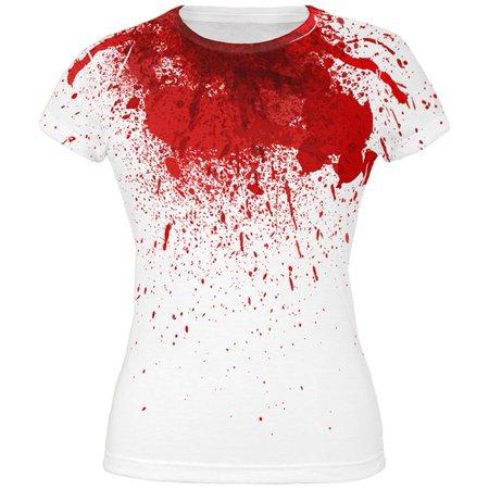 Halloween Horror Movie Victim Decapitation All Over Juniors T Shirt - Runescape 07 Halloween
