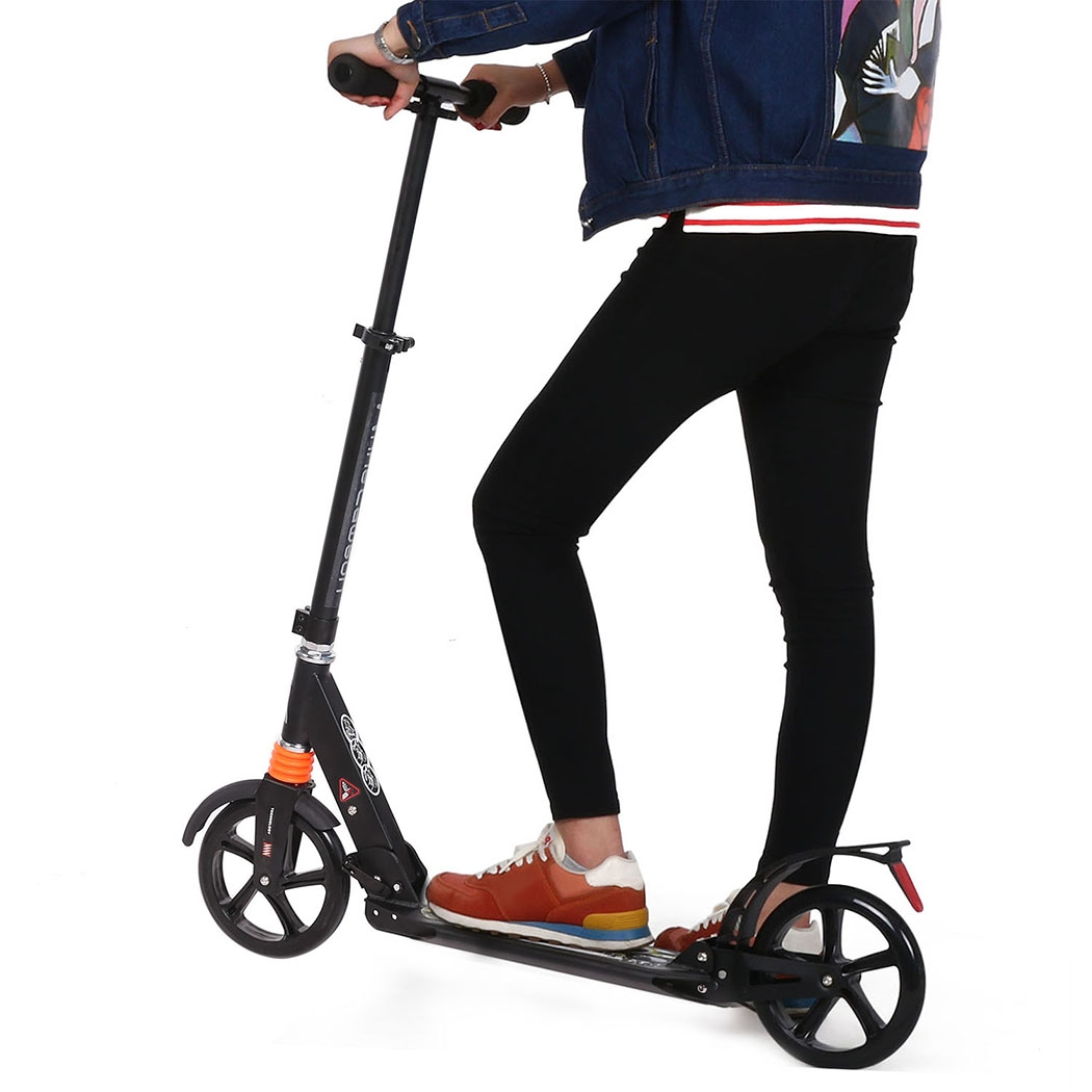 """Ancheer 36.7 x 14.4 x 35.1"""" 2-Wheel Foldable Adjustable Aluminum Scooter Alloy... by"""