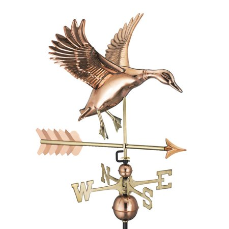 - Good Directions Landing Duck with Arrow Weathervane, Pure Copper - 26