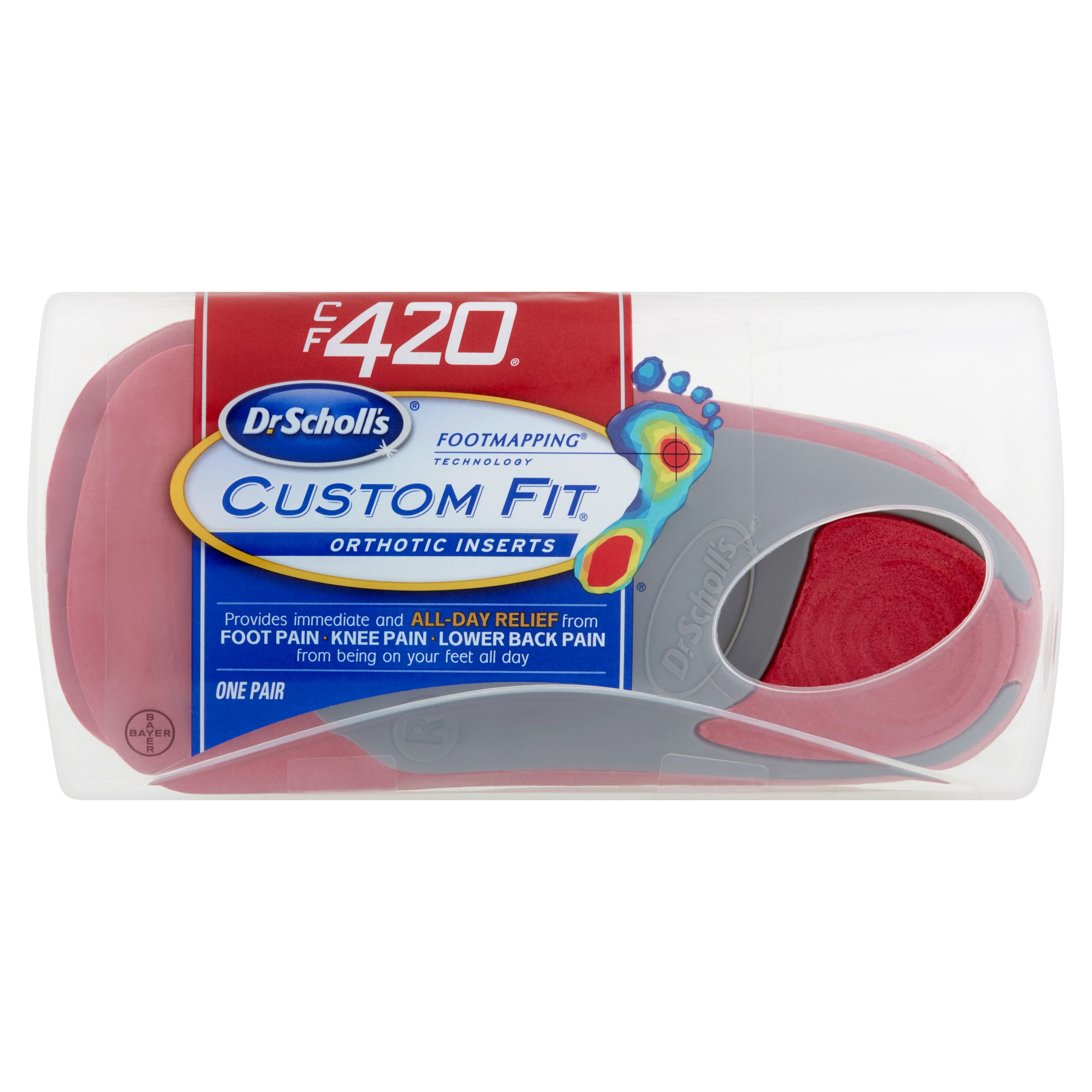 Bayer Dr Scholl's Footmapping Technology Custom Fit CF 420 Orthotic Inserts by Bayer HealthCare LLC
