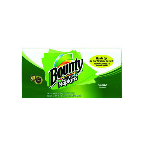 Bounty (100 per Carton) Quilted Napkin in White