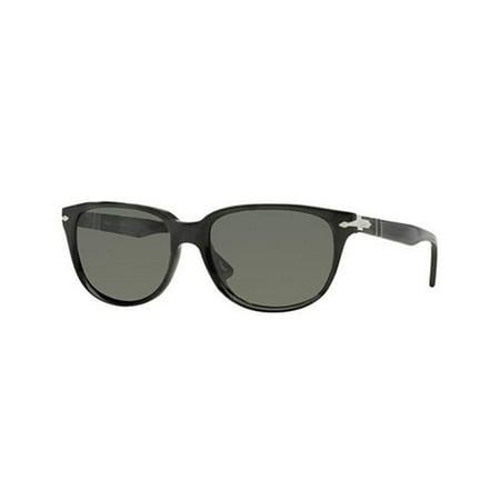 Persol PO3104S 54 901458 Sunglasses Round Black Frames Polarized (Persol Polarized Lenses)